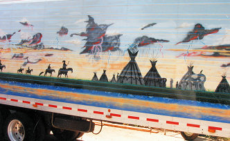 Mural on Semi Trailer